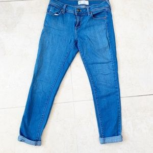 Free People Medium Wash Stretch Skinny Jeans